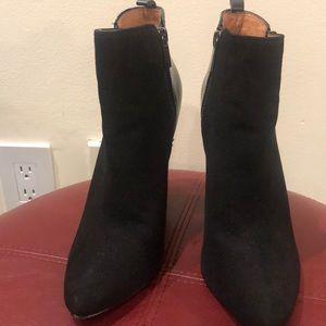 Shoes - Halogen black suede boots size 7 1/2 M